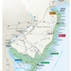 NJ Coastal Heritage Trail Map